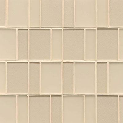 Bedrosians Manhattan Glass Mosaic Brick Pattern Cashmere
