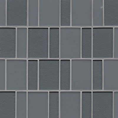 Bedrosians Manhattan Glass Mosaic Brick Pattern Concrete