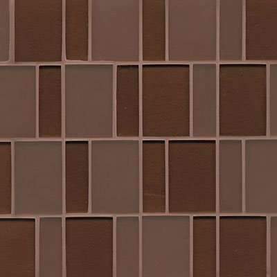 Bedrosians Manhattan Glass Mosaic Brick Pattern Grand