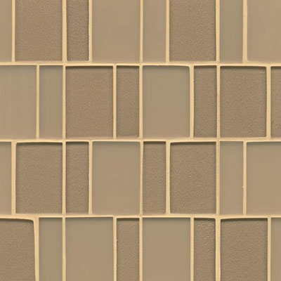 Bedrosians Manhattan Glass Mosaic Brick Pattern Heiress