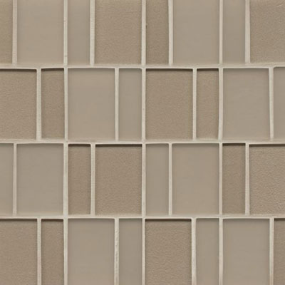 Bedrosians Manhattan Glass Mosaic Brick Pattern Madison