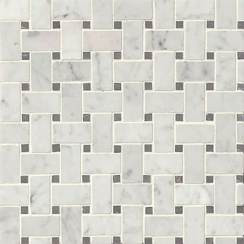 Marble Flooring Essex: Tilecrest Marble Stone Basketweave Mosaic Tile & Stone Colors