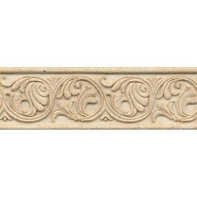 Bedrosians Marmi Di Napoli Deco Liner 4 X 12 Creme Brulee