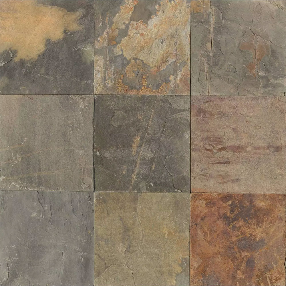 Tilecrest Slate Stone 12 X 12 Butterscotch Gauged