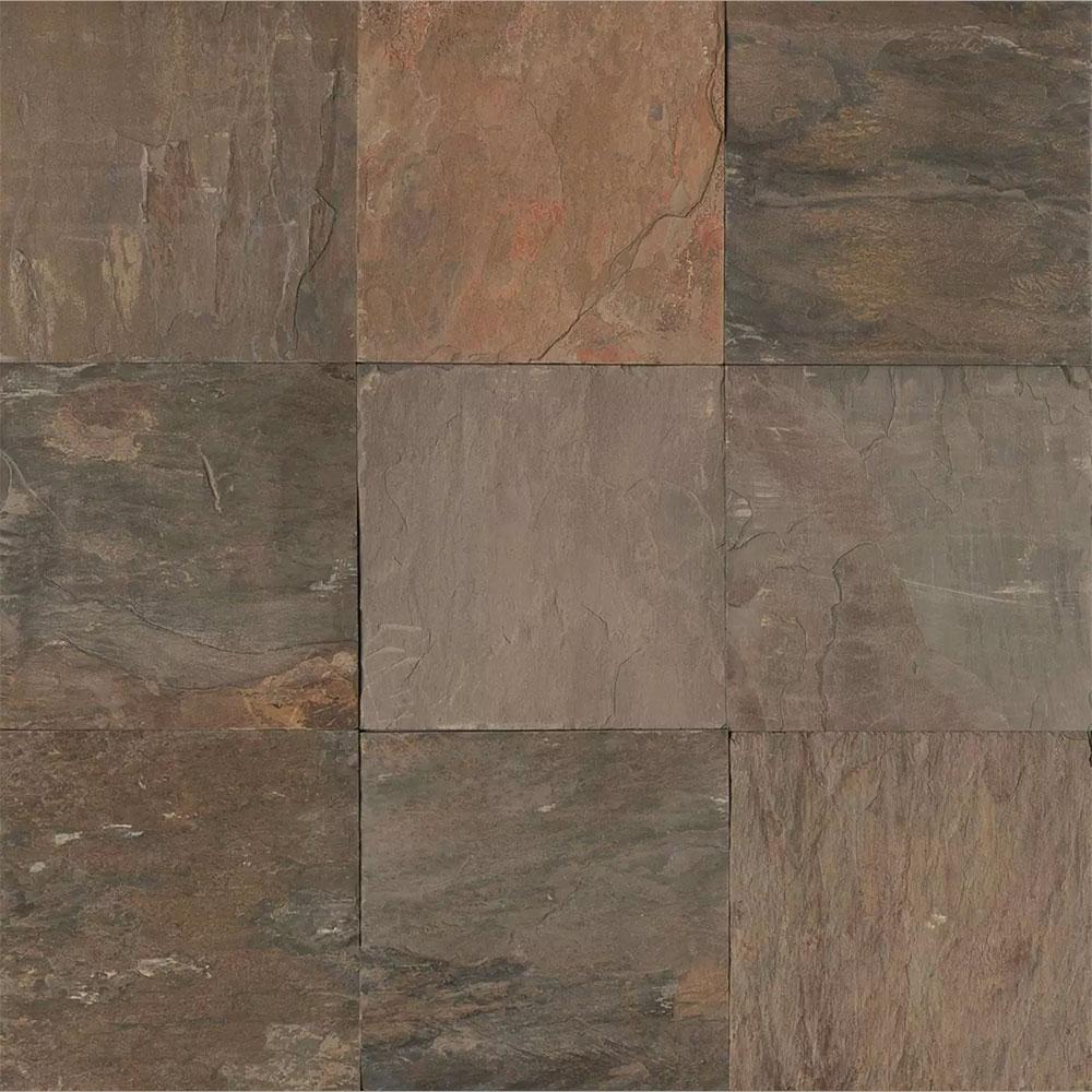 Tilecrest Slate Stone 16 X 16 Autumn Gold Gauged