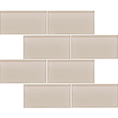 Vetromani Valencia Glass Subway Tile 3 X 6 Light Beige