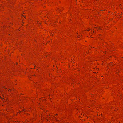 Globus Cork Glue Down Tiles Nugget Texture 18 x 18 Burnt Orange