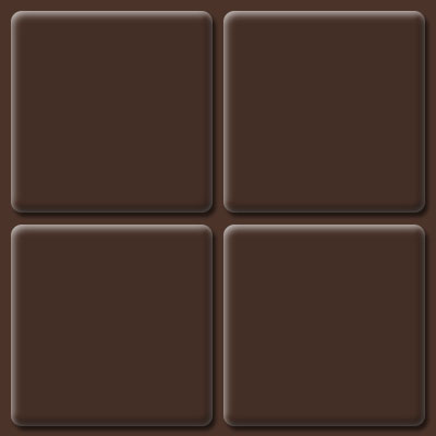 Landing Tile Raised Squares Cocoa