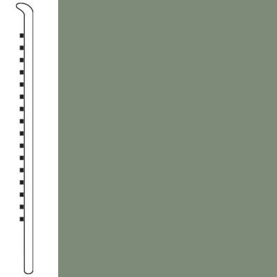 Wallbase Straight 2 1/2 Gray Green