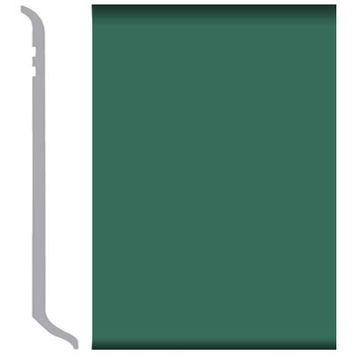 Burke Burkebase Molded Rubber Wall Base Type TS Coved 6 Envy Green