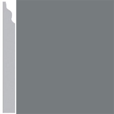 Burke Profiles Designer Rubber Wall Base Type TP Classic 3 1/4 Charcoal