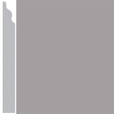 Burke Profiles Designer Rubber Wall Base Type TP Classic 3 1/4 Gray