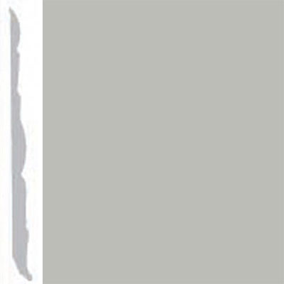 Burke Profiles Designer Rubber Wall Base Type TP Colonial 4 1/4 Light Gray