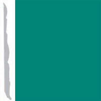 Burke Profiles Designer Rubber Wall Base Type TP Colonial 4 1/4 Light Teal
