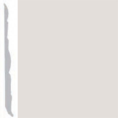 Burke Profiles Designer Rubber Wall Base Type TP Colonial 4 1/4 Pearl Luster Metallic