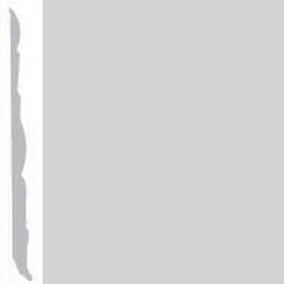 Burke Profiles Designer Rubber Wall Base Type TP Colonial 4 1/4 Platinum Metallic