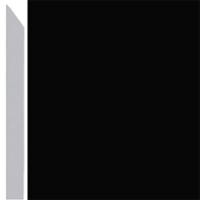 Burke Profiles Designer Rubber Wall Base Type TP Elusive 3 Black
