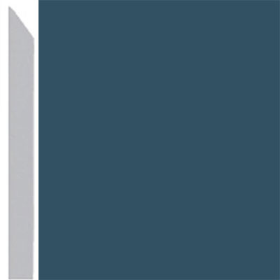 Burke Profiles Designer Rubber Wall Base Type TP Elusive 3 Blue Bonnet
