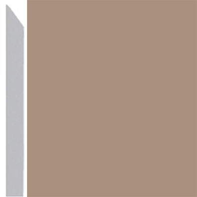 Burke Profiles Designer Rubber Wall Base Type TP Elusive 3 Light Beige