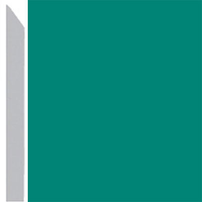Burke Profiles Designer Rubber Wall Base Type TP Elusive 3 Light Teal
