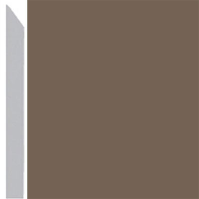 Burke Profiles Designer Rubber Wall Base Type TP Elusive 3 Mocha
