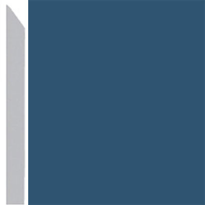 Burke Profiles Designer Rubber Wall Base Type TP Elusive 3 True Blue