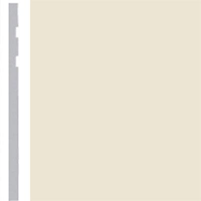 Burke Profiles Designer Rubber Wall Base Type TP Revelation 4 1/4 Almond