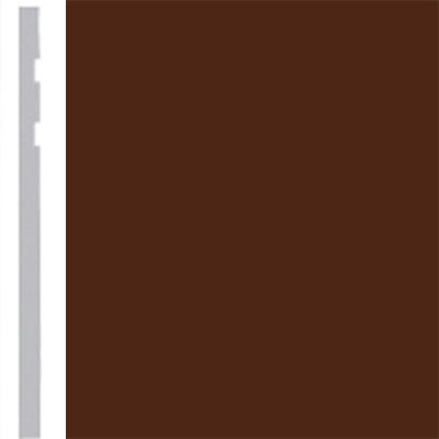 Burke Profiles Designer Rubber Wall Base Type TP Revelation 4 1/4 Brown
