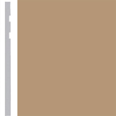 Burke Profiles Designer Rubber Wall Base Type TP Revelation 4 1/4 Clay