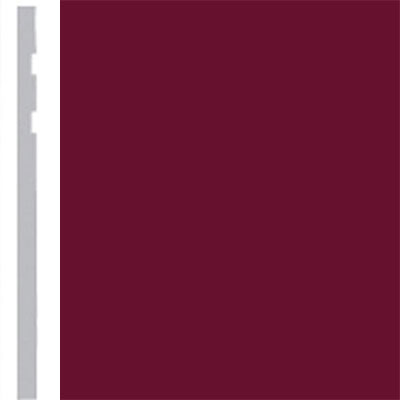 Burke Profiles Designer Rubber Wall Base Type TP Revelation 4 1/4 Cranberry
