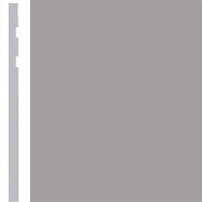Burke Profiles Designer Rubber Wall Base Type TP Revelation 4 1/4 Gray