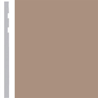 Burke Profiles Designer Rubber Wall Base Type TP Revelation 4 1/4 Light Beige