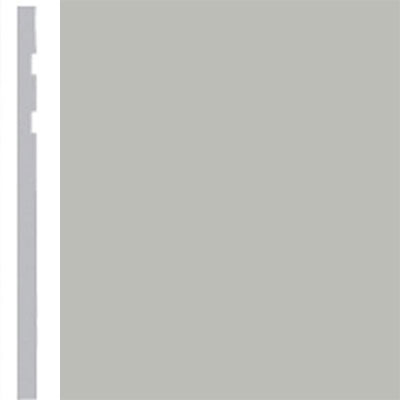 Burke Profiles Designer Rubber Wall Base Type TP Revelation 4 1/4 Light Gray