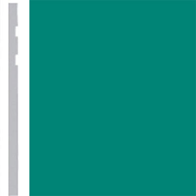 Burke Profiles Designer Rubber Wall Base Type TP Revelation 4 1/4 Light Teal