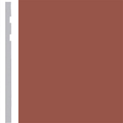 Burke Profiles Designer Rubber Wall Base Type TP Revelation 4 1/4 Nutmeg