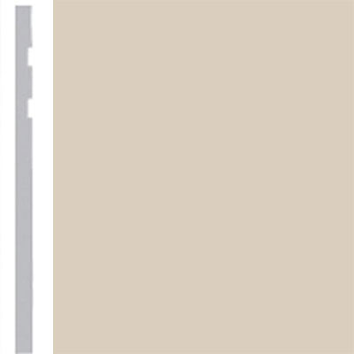 Burke Profiles Designer Rubber Wall Base Type TP Revelation 4 1/4 Off White