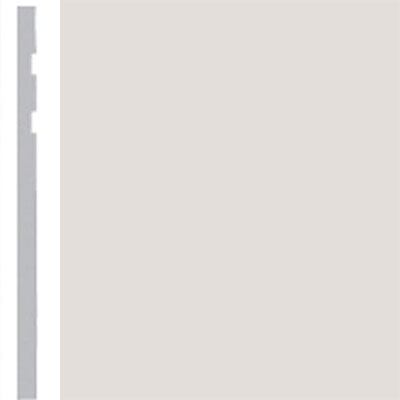 Burke Profiles Designer Rubber Wall Base Type TP Revelation 4 1/4 Pearl Luster Metallic
