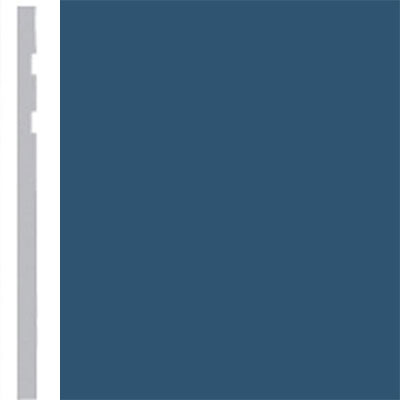 Burke Profiles Designer Rubber Wall Base Type TP Revelation 4 1/4 True Blue