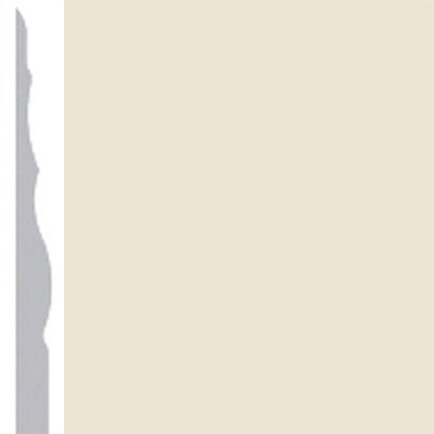Burke Profiles Designer Rubber Wall Base Type TP Sculptured 4 1/4 Almond