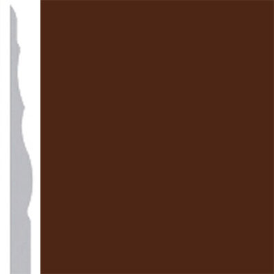 Burke Profiles Designer Rubber Wall Base Type TP Sculptured 4 1/4 Brown