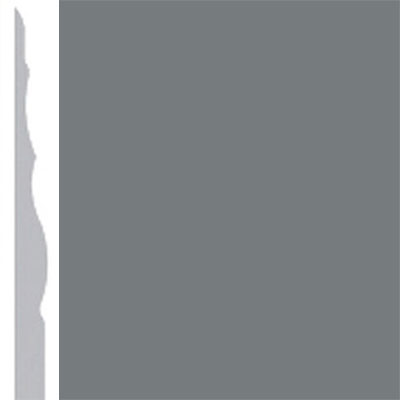 Burke Profiles Designer Rubber Wall Base Type TP Sculptured 4 1/4 Charcoal