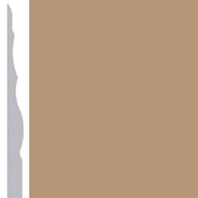 Burke Profiles Designer Rubber Wall Base Type TP Sculptured 4 1/4 Clay