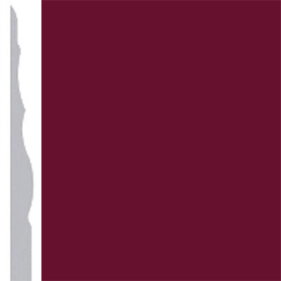 Burke Profiles Designer Rubber Wall Base Type TP Sculptured 4 1/4 Cranberry