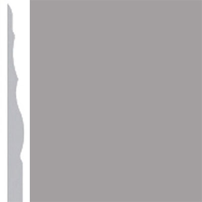 Burke Profiles Designer Rubber Wall Base Type TP Sculptured 4 1/4 Gray