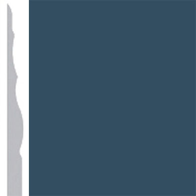 Burke Profiles Designer Rubber Wall Base Type TP Sculptured 4 1/4 Navy
