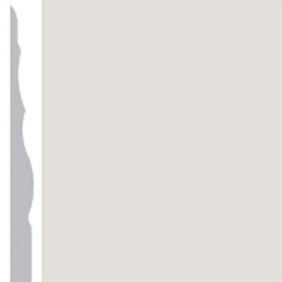 Burke Profiles Designer Rubber Wall Base Type TP Sculptured 4 1/4 Pearl Luster Metallic