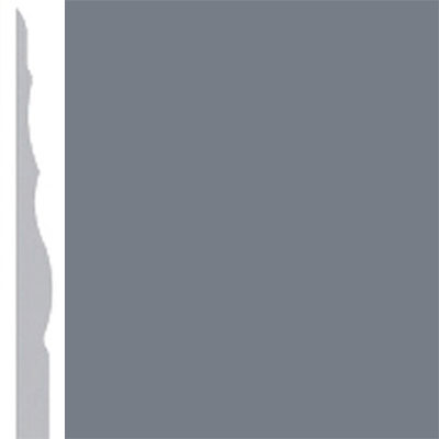 Burke Profiles Designer Rubber Wall Base Type TP Sculptured 4 1/4 Rocky