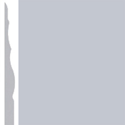 Burke Profiles Designer Rubber Wall Base Type TP Sculptured 4 1/4 Sky Gray