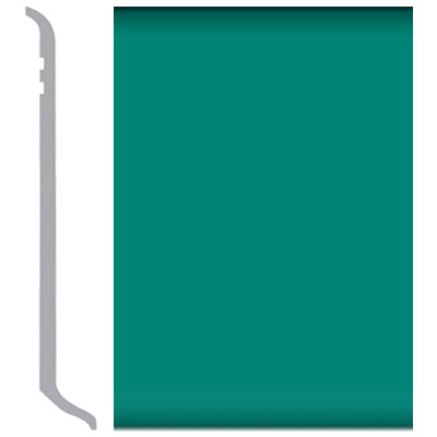 Burke Rubbermyte Rubber Wall Base Type TP Coved 4.5 Light Teal