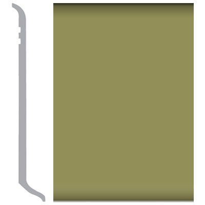 Burke Rubbermyte Rubber Wall Base Type TP Coved 4.5 Olive